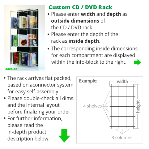 Custom CD / DVD Rack