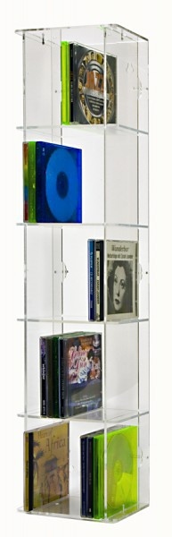 CD Display Tower With 5 Shelves