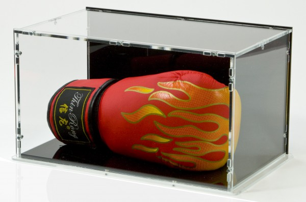 Boxing Glove Display Case with Black Back-Panel