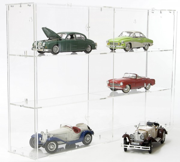 Modular Design Display Cabinet for Model Cars 1/18