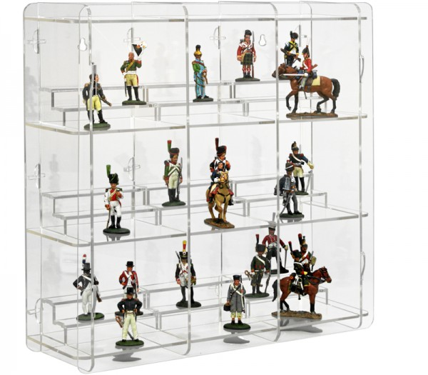 Tin Figure Display Cabinet with Pedestals