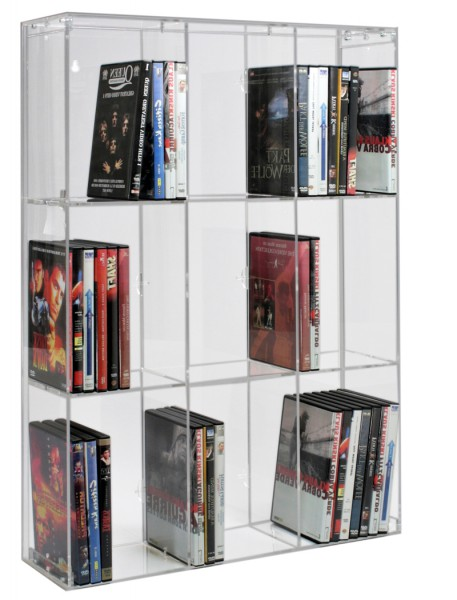Dual Purpose CD/DVD Rack With 9 Shelves