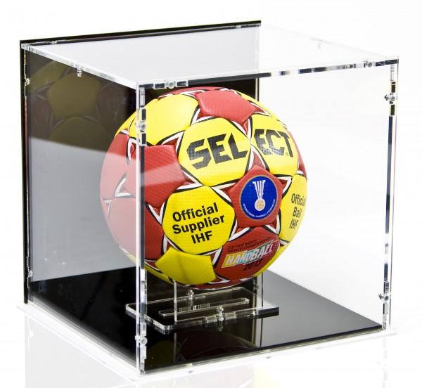 Handball Display Case with Black Back-Panel