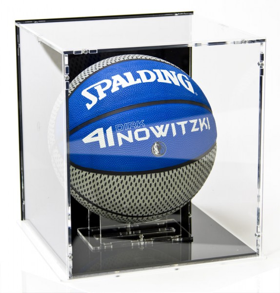 Basketball Display Case with Black Back-Panel
