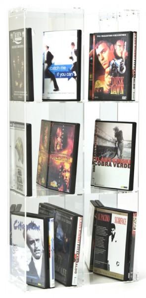 Dual Purpose DVD Rack With 6 Shelves