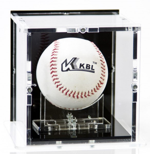 Baseball Display Case with Black Back-Panel