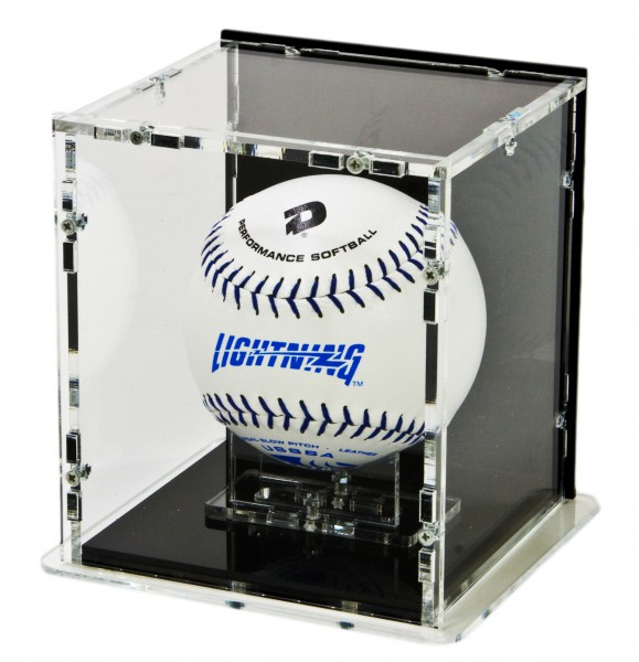 Softball Display Case with Black Back-Panel