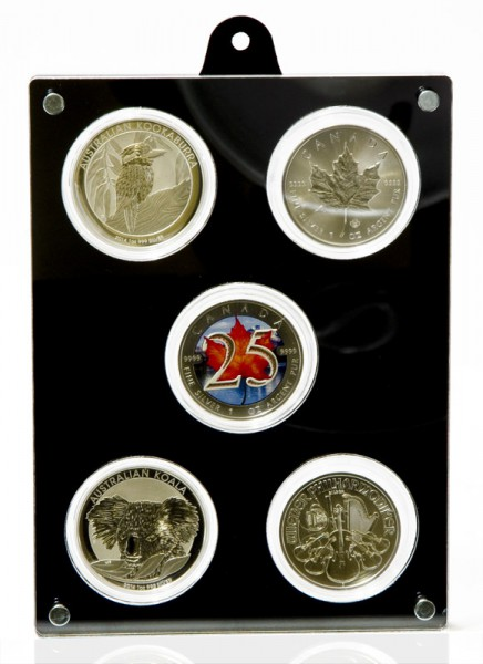 Coin Case for 5 Encapsulated 1oz Silver Coins