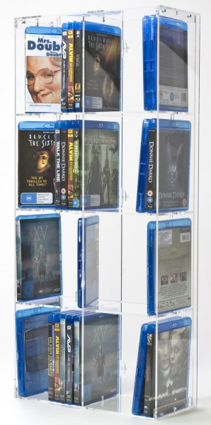 Versatile Blu-ray Rack With 8 Shelves