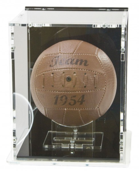 Mini Football Display Case with Black Back-Panel